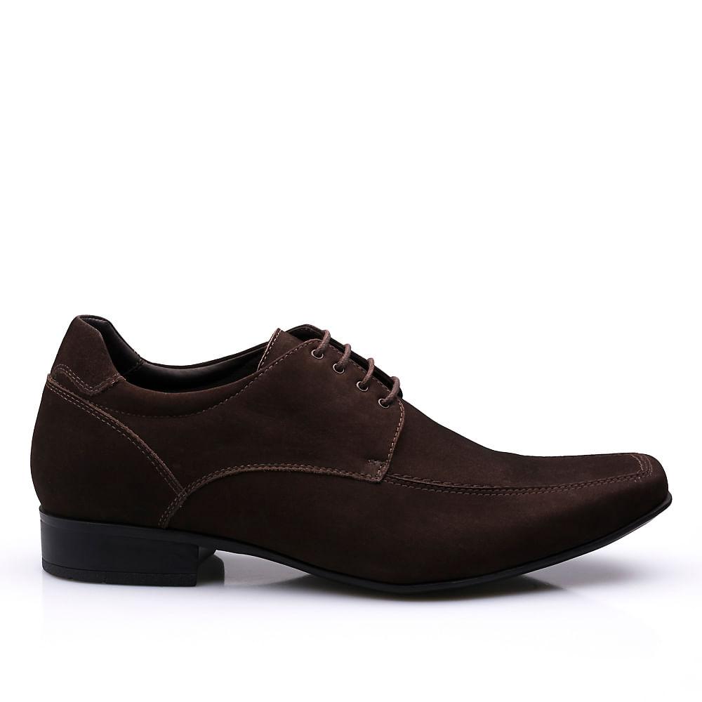 789b60e9cf Sapato Casual Derby Em Couro Com Salto Interno Altus - Fascar | Loja ...